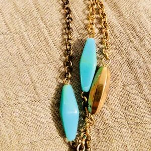 **Lia Sophia Long statement necklace